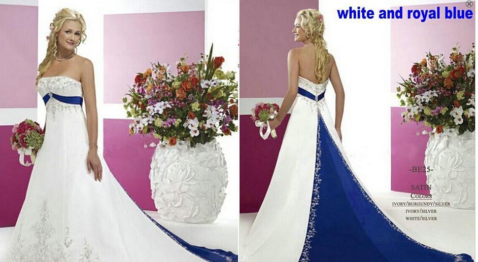 Großhandel Modernes Design Weiß Und Blau Eine Linie Satin ...