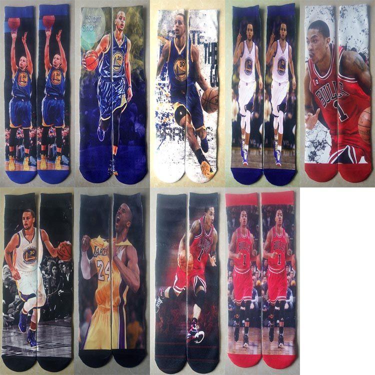 Customized Pattern Men & Women Stockings High Socks Outdoors Sports Basketball Football Baseball Cheerleaders Long Sock Leg Warmers