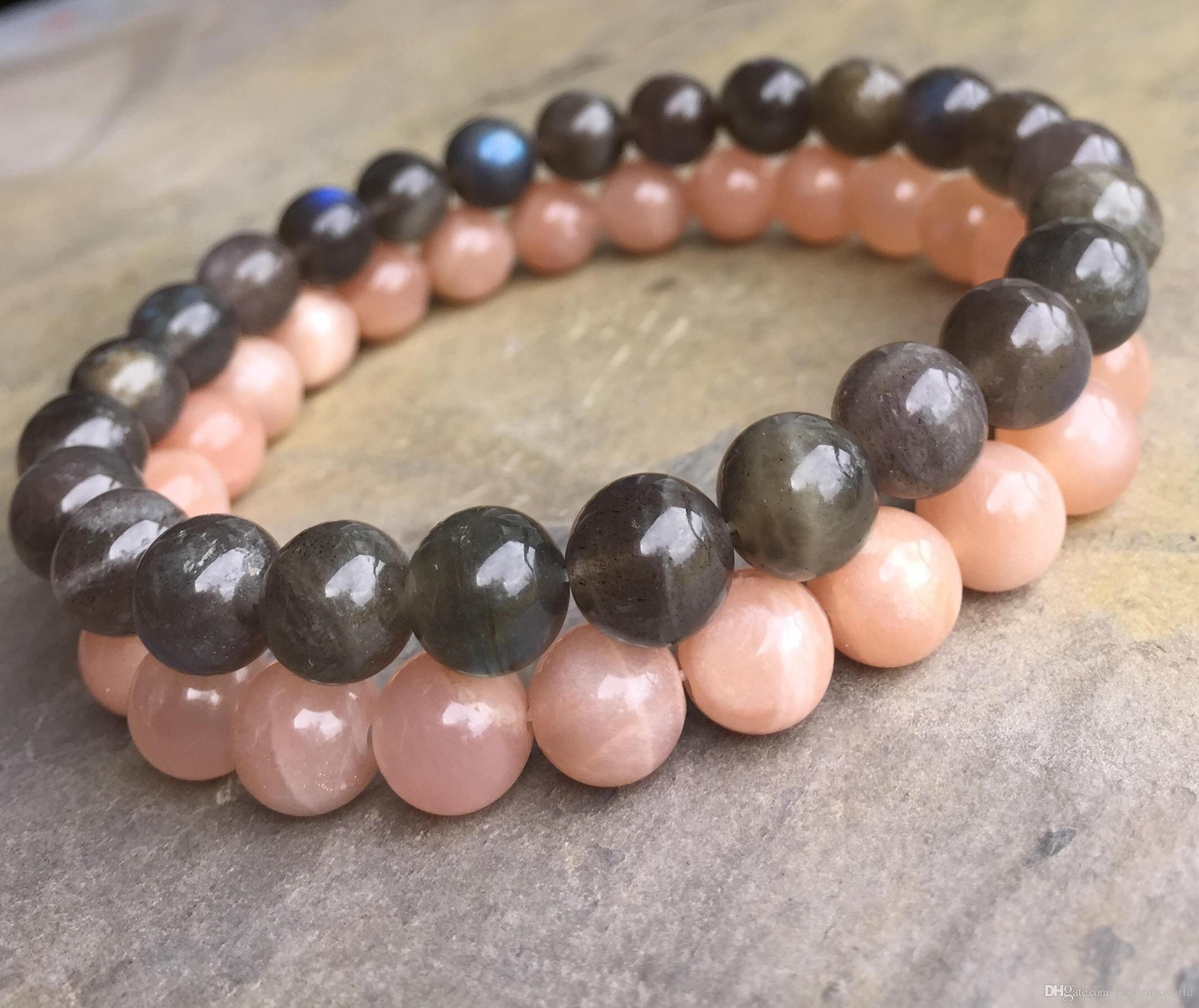 8mm Labradorit Armband, 8mm Sonnenstein Armband, Edelstein Perlen Armband  elastischen Edelstein Armband, Geschenke 79199b0746
