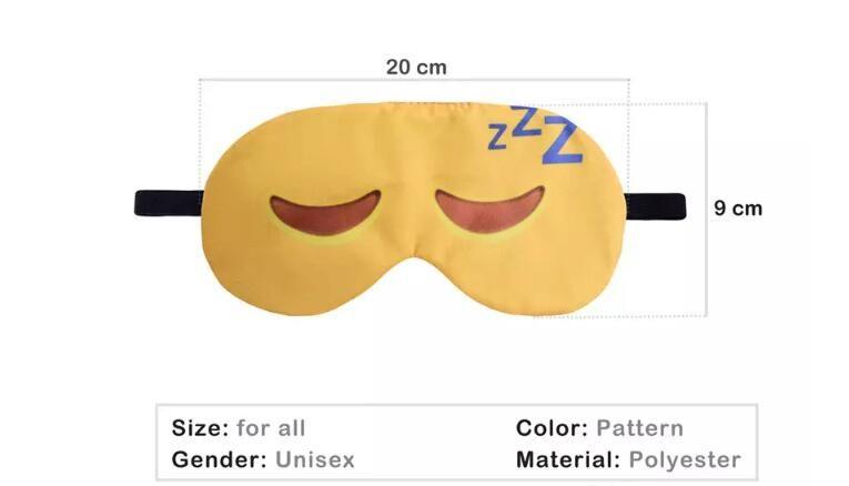 Impression 3D Emoticon longs cils Masque Voyage Relax Eyeshade Sleeping Eye Cover Girl Eyepatch Bandeaux Lunettes de soins de santé