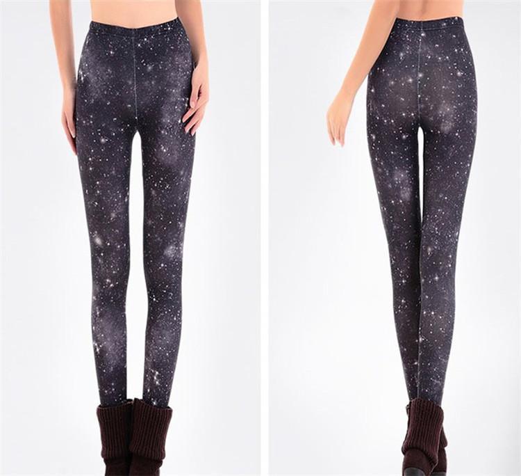 Black milk Women leggins 3D Digital Van Gogh Starry Night Galaxy Print Leggings for Women 2016 New Drop Shipping Many style for choose