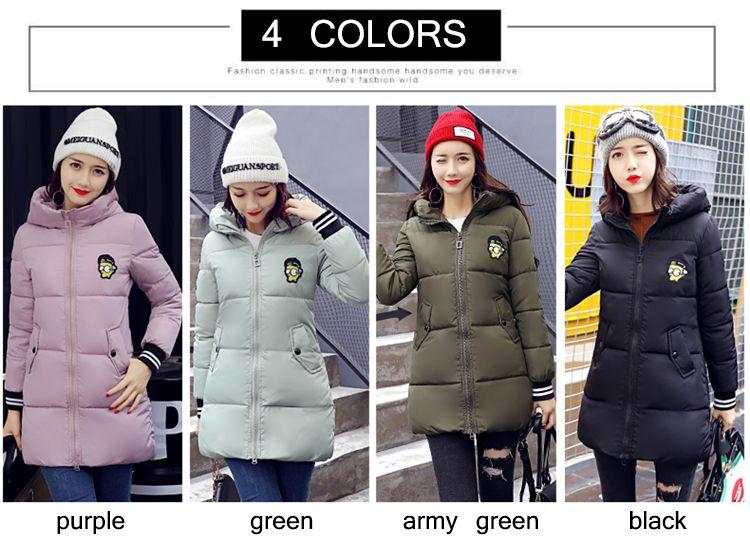 Long jacket women winter coat women warm outwear Slim Padded cotton Jacket coat Womens Clothing 2017 New High Quality