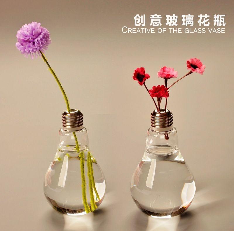 Pack Glass Vases Home Decoration Bulb Vases Wedding Party Decor ...
