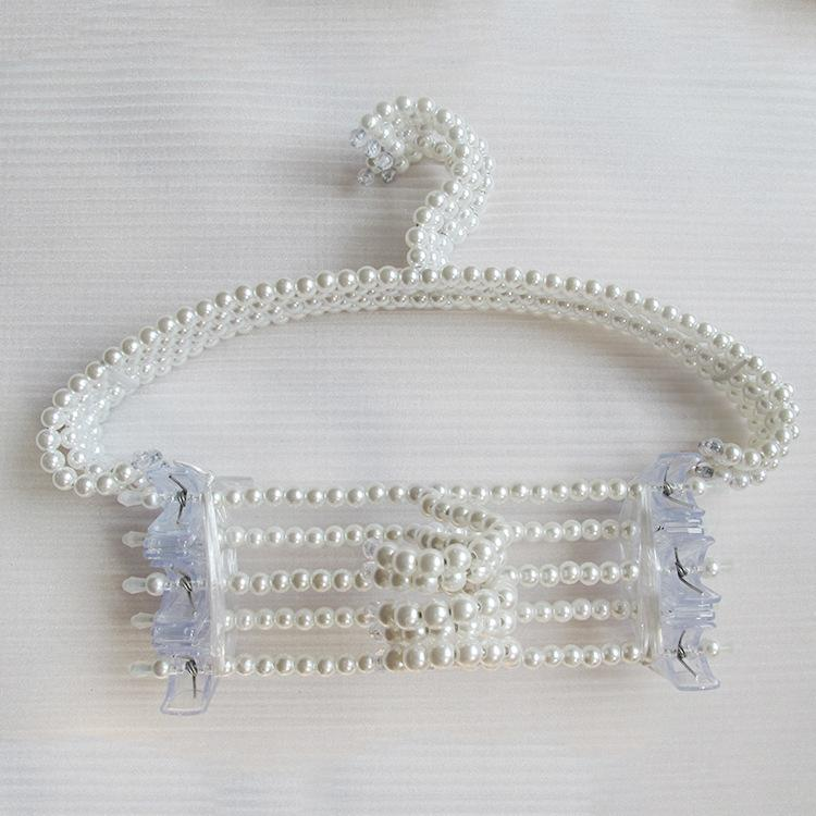 Free shipping 200pcs/lot pearl beaded hanger can anti-slip hanging women clothes and it very beautiful