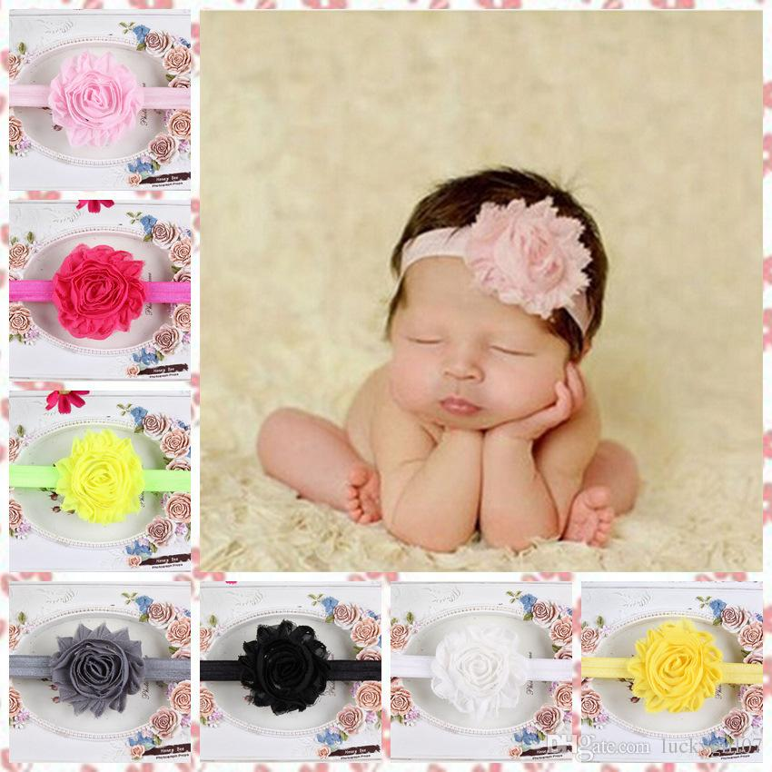 Hair Accessories For Infant Baby Lace Big Flower Pearl Princess Babies Girl Hair Band Headband Baby's Head Band Kids Hairwear