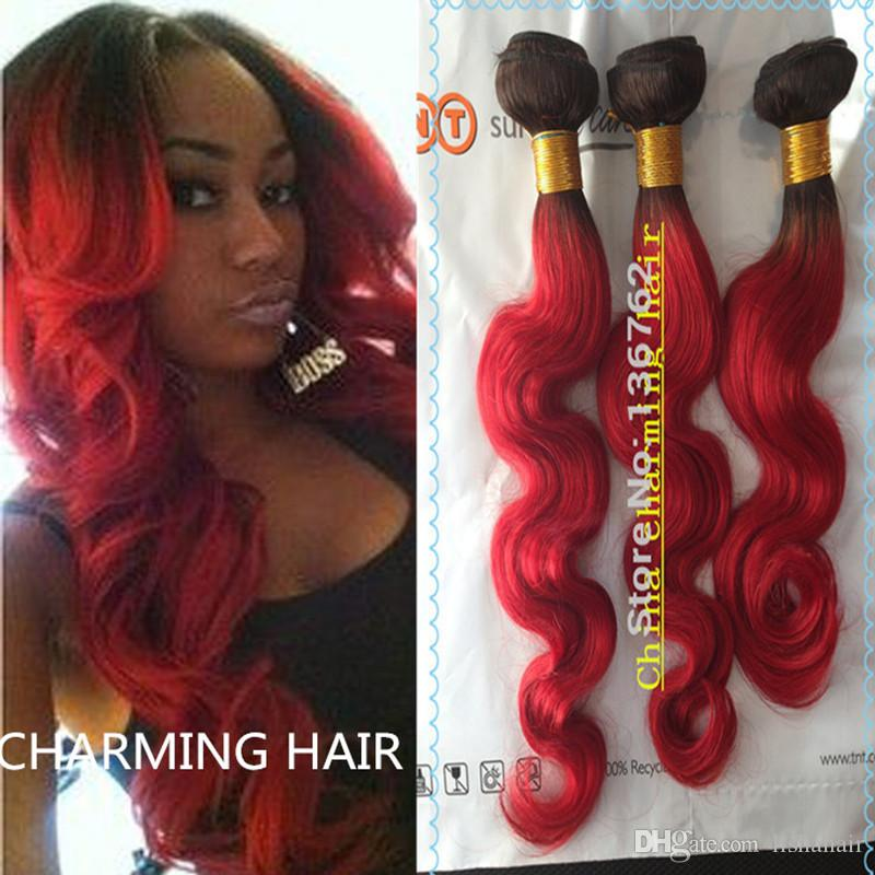 10 26 red hair extensions dark roots body wave brazilian virgin 10 26 red hair extensions dark roots body wave brazilian virgin human hair extension 100gpc hair weave 3pcs lot pmusecretfo Image collections