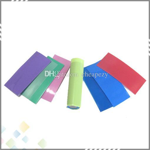 18650 배터리 슬리브 PVC 열 수축 튜브 72 * 30 * 0.08 mm 다채로운 맞게 18650 배터리 고품질 DHL 무료