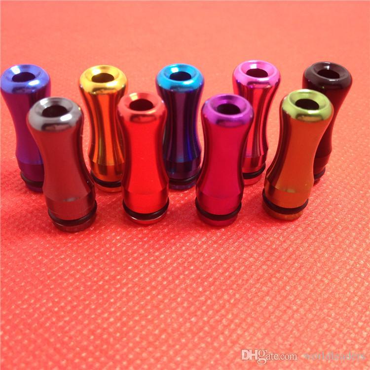 510 EGO Metal Drip Tip Aluminum Metal Mouthpiece 510 Atomizer Mouthpiece for E Cigarette Vivi Nova 510 DCT Cartomizers DHL