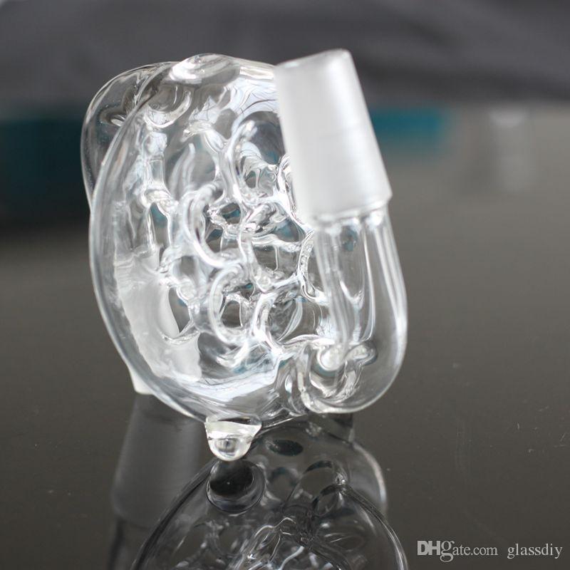 Collettore di cenere di vetro all'ingrosso cenere di frassino con foro 14.4mm 18.8mm giunto maschio femmina vetro Bong accessori fumatori di vetro