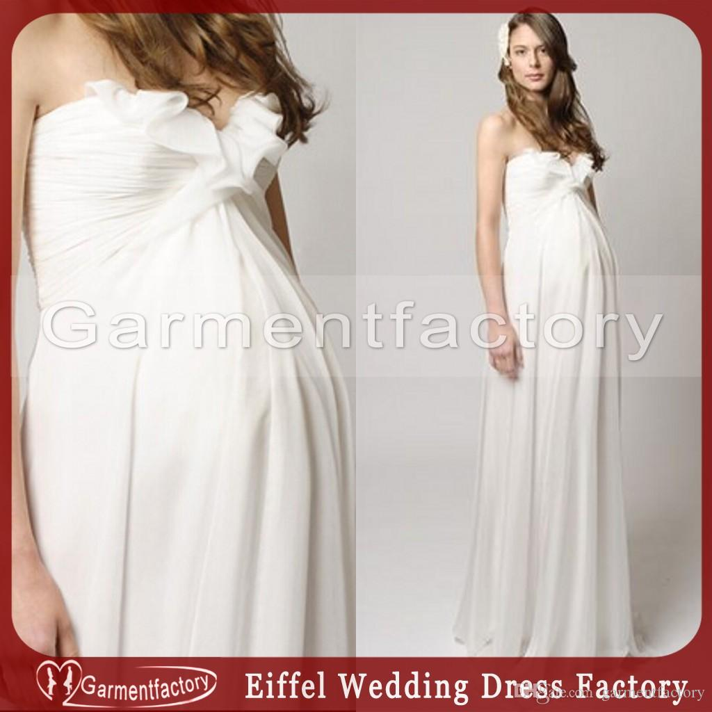 Vintage maternity wedding dress fall 2015 empire waist sweetheart vintage maternity wedding dress fall 2015 empire waist sweetheart neckline a line ruffles ivory chiffon mother of the bride dresses greek style wedding ombrellifo Image collections