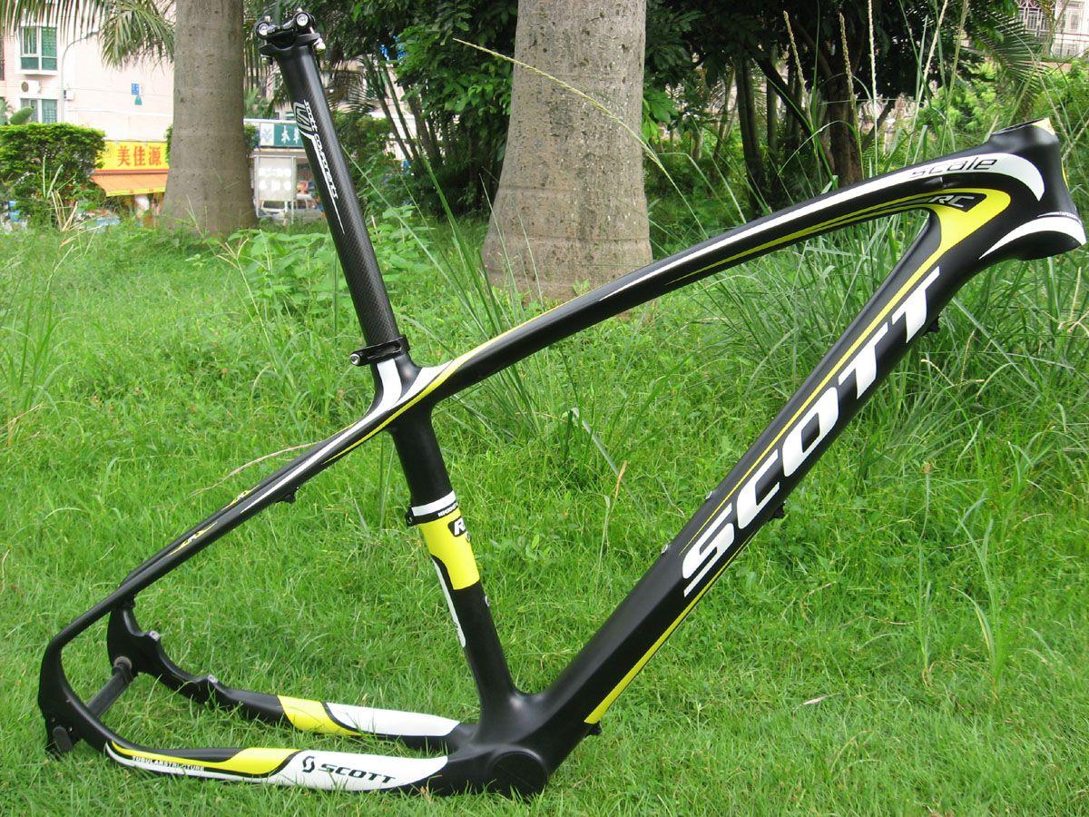 Scott Scale Rc 29er Mountain Carbon Frame Black/White/Yellow E Thru ...