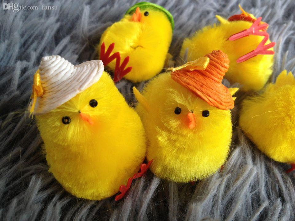 Best wholesale easter chicken with small hat foam eggs see larger image negle Images
