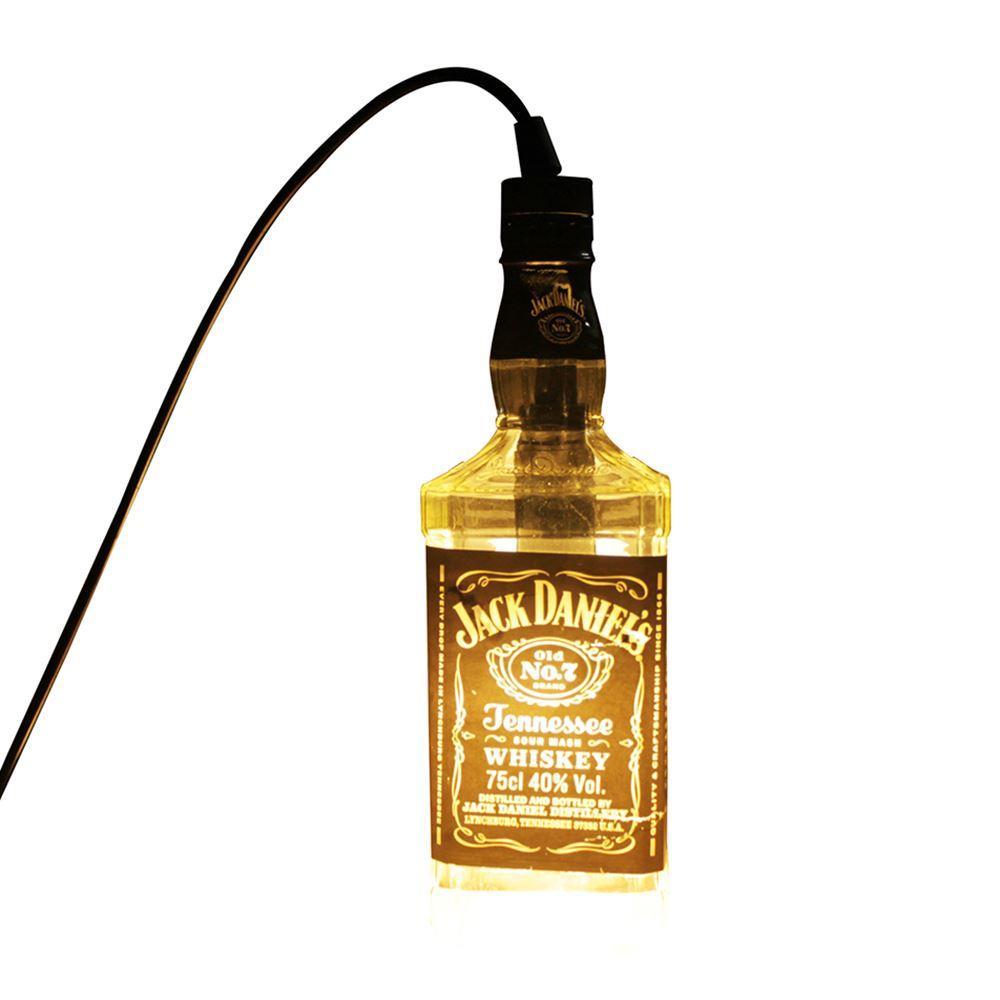 Led Pendant Lamp Transparent Jack Daniels Liquor Bottle