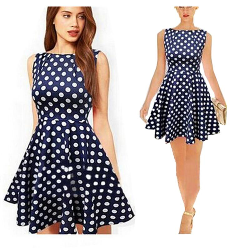 Plus Size Dresses 2015 casual dresses European New Large Size Women s  Summer Dress Stitching Dot TuTu Cheap WOMEN DRESSES HOT SALE