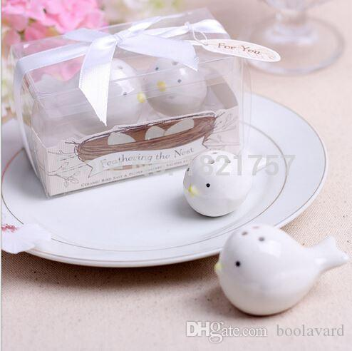 Wedding Favors Gifts Pied Magpie Ceramic Salt And Pepper Bird