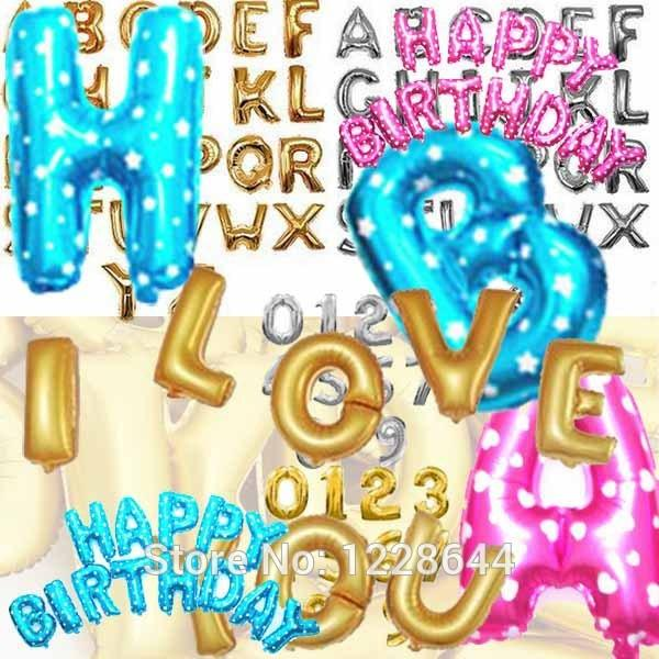 Birthday Party Decorations Kids Alphabet Letter Number