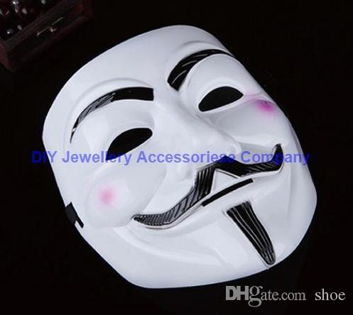 20*16 см V Маска Хэллоуин Маска маскарадные маски Вендетта анонимный Валентина бал партия musache маска анфас супер страшно парень Фокс