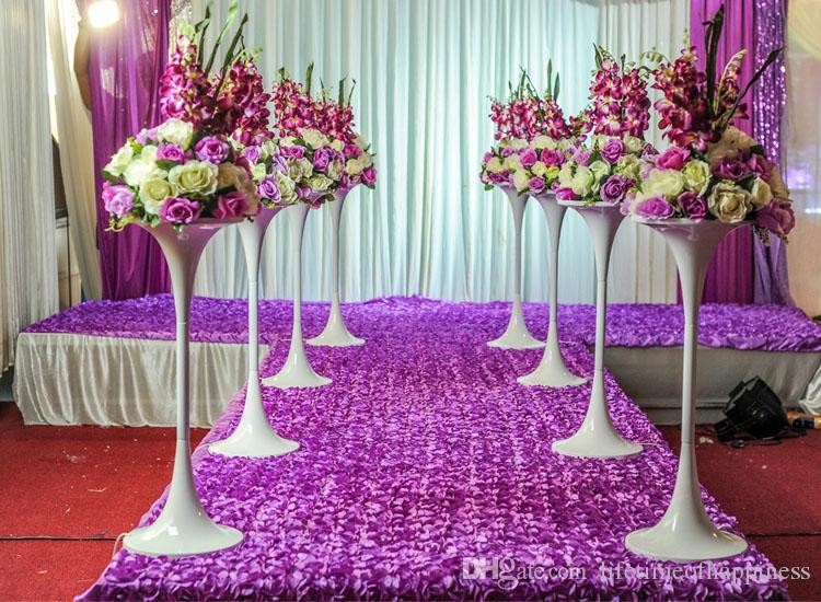 2017 Wedding Props Catwalk Rose Carpet Petals Wedding Stage Wholesale  Wedding Decoration Carpet, Custom Size, Free Shipping.