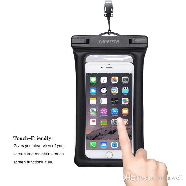 Inflatable Waterproof Pouch Mobile Phone Bags 30M Underwater Dry Case Cover For iphone X 5 5S 6 6S 7 8 Plus/Samsung/LG/Xiaomi