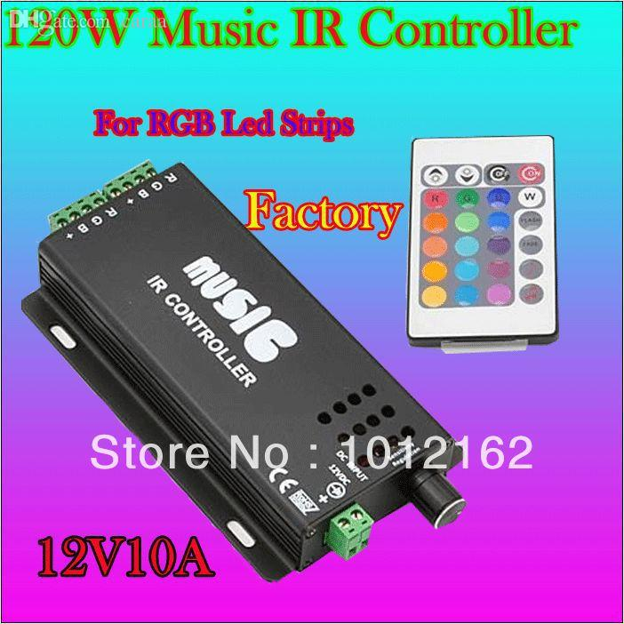 2018 wholesale free mail12v10a 120w midi rgb led strip digital usb music controller audio sound driver christmas light music player controller from auror