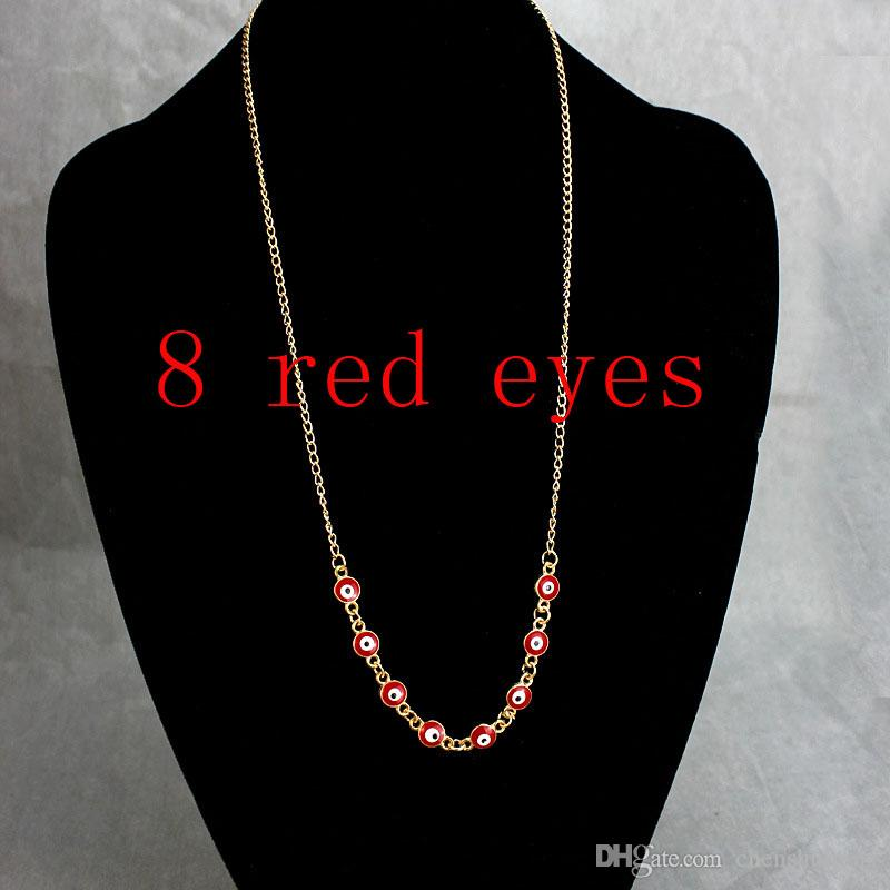 Europe Fashion Punk Style Jewelry Necklace Classics Vintage The Evil Eye Sweater Chains Turkey Chokers
