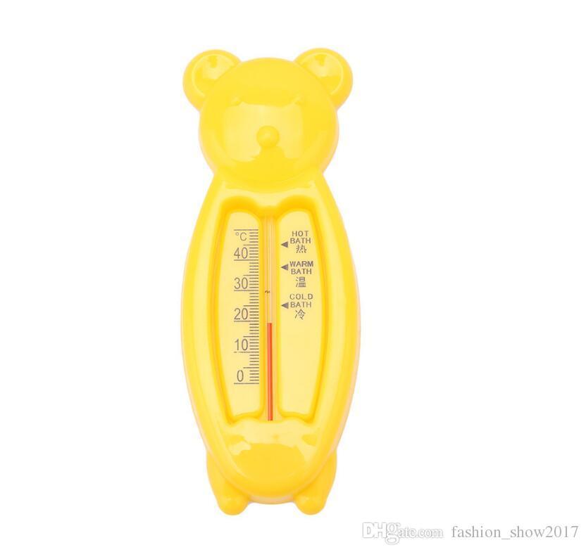 Cartoon Floating Lovely Bear Baby Water Termômetro Kids Bath Thermometer Toy Plastic Tub Sensor de água Termômetro