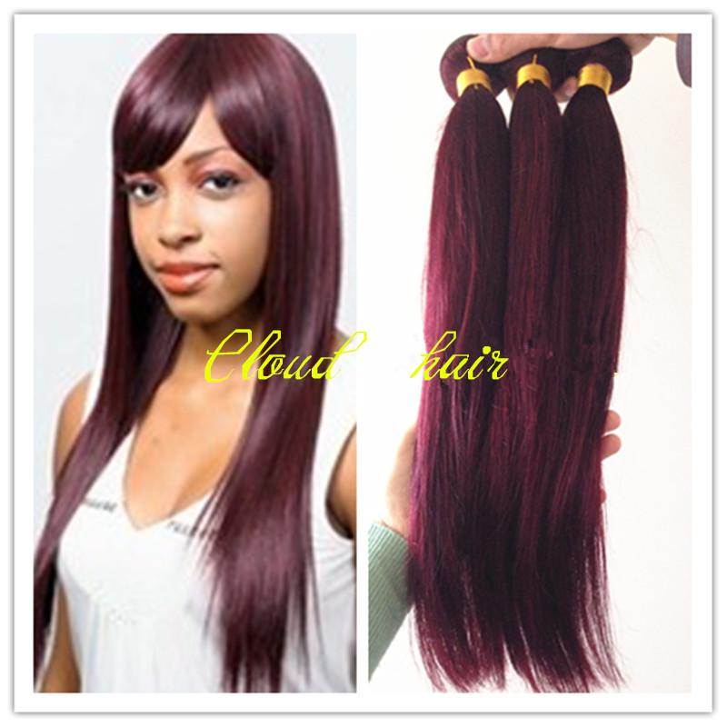 Cheap pure color 99j wine red brazilian virgin human hair cheap pure color 99j wine red brazilian virgin human hair extensions silky straight top sale burgundy straight remy hair weave weft 8 26 pmusecretfo Images