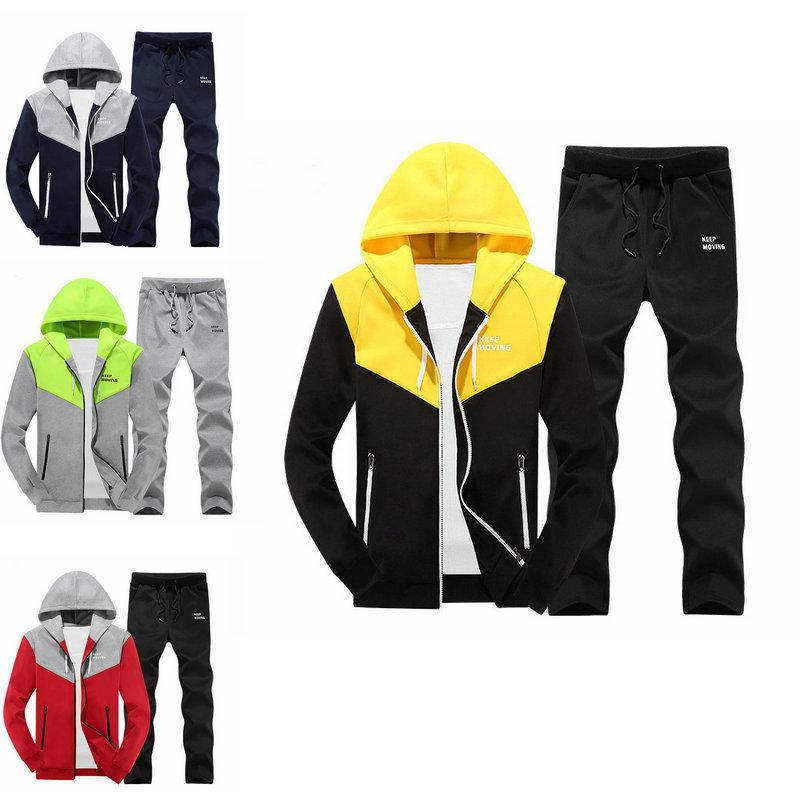 3da98d68d3 2019 Plus Size Tracksuit Hooded Men S Sets Zipper Jackets+Pants Fashion  Casual Youth Jackets Trousers Mans Sets Baseball Casual Wear Suit From ...