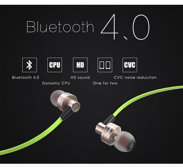AWEI A990BL Sports Smart Bluetooth Wireless Earphone Sweat-proof Neckband With Mic Control Headphones for iPhone5 6 6S Samsung Galaxy