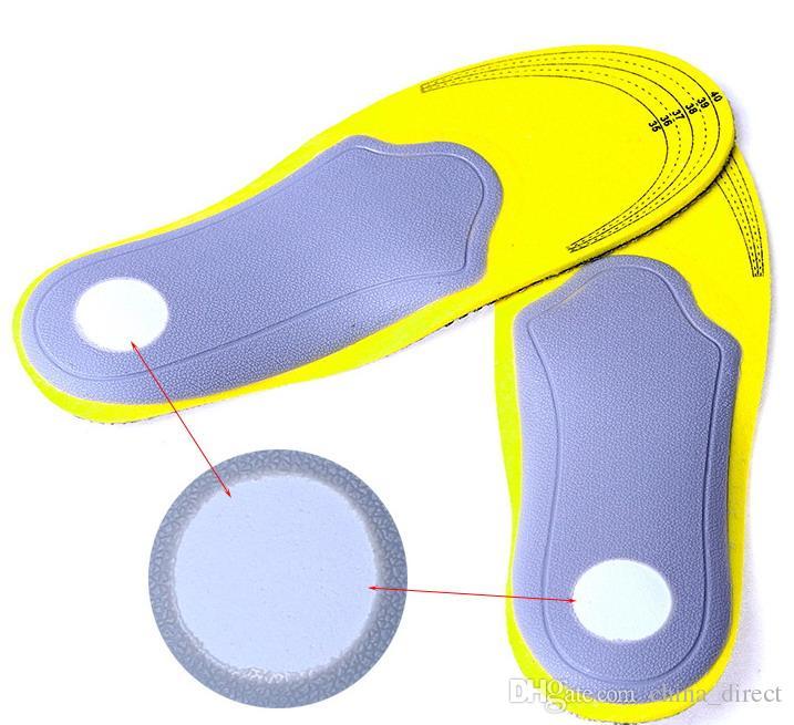 Fußpflege 1 Paar hochwertige Frauen 3D Männer bequeme Schuhe orthopädische Einlagen fügt hohe Bogenstützkissen / # 3988 ein