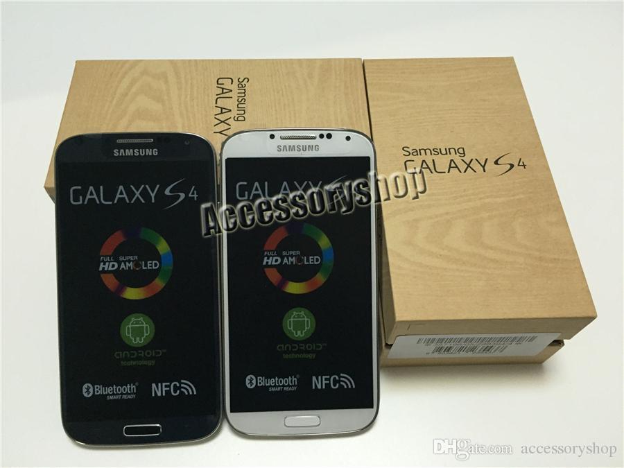 Reacondicionado Original Samsung Galaxy S4 i9500 i9505 5.0 pulgadas Quad Core 2GB RAM 16GB ROM 13MP 3G 4G LTE Android desbloqueado teléfono inteligente DHL