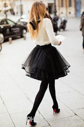 Beautiful Tyered Princess Fairy Style Voile Tulle Skirt Bouffant Skirt Short Skirts Fashion