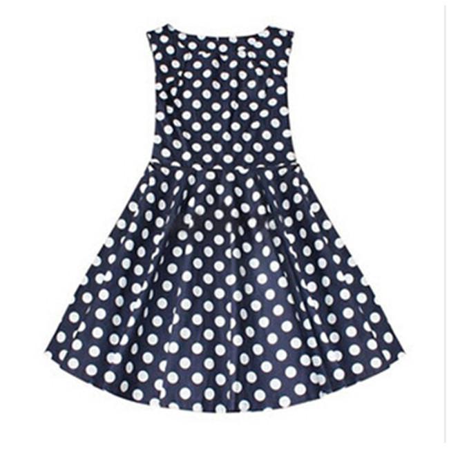プラスサイズのドレス2015カジュアルドレスヨーロッパの新しい大型女性の夏のドレスステッチドットチュチュ安い女性のドレス熱い販売