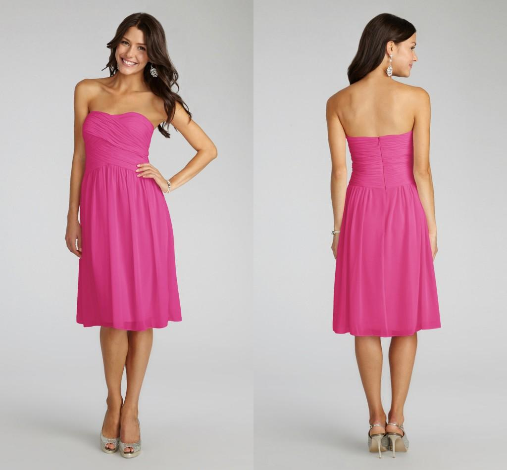 Charming Pleated Sweetheart Short Bridesmaid Dresses Zipper Back ...