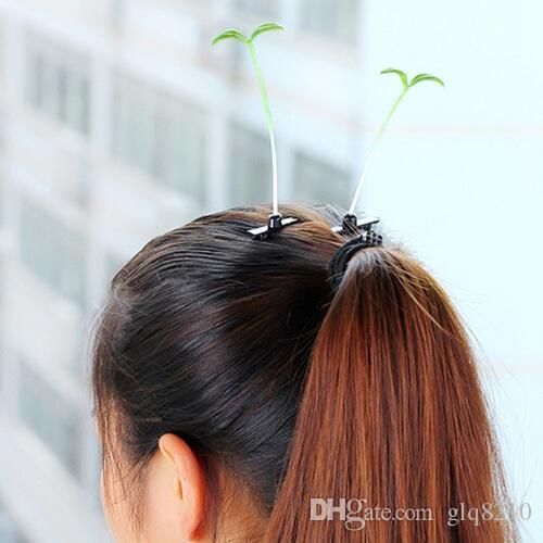 Nouvelle arrivée pousses de soja fleurs pinces à cheveux épingle à cheveux belle Barrettes femmes multicolores cadeau de Noël /