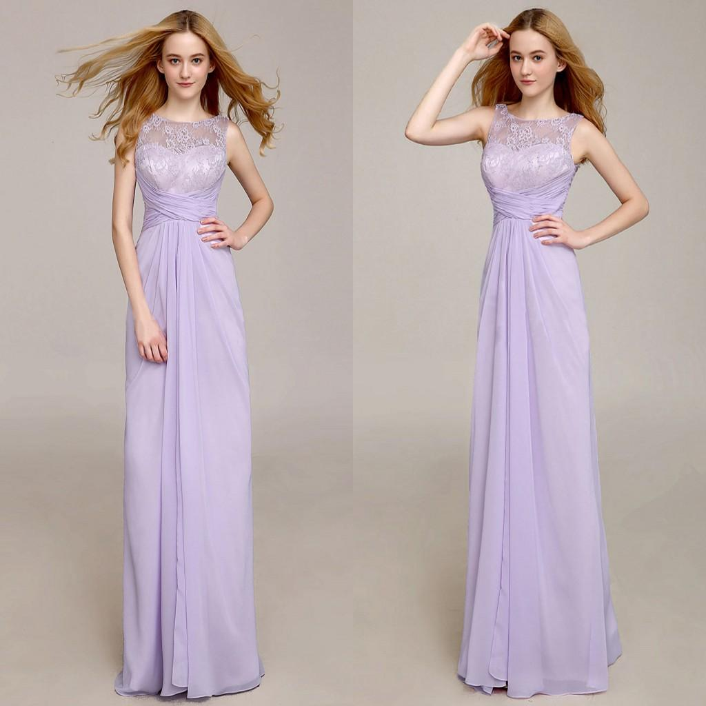 Lavender long bridesmaid dresses jewel lace top a line fashion lavender long bridesmaid dresses jewel lace top a line fashion chiffon fabric floor length formal dress for wedding bridesmaid 2015 cheap bridesmaid dress ombrellifo Gallery