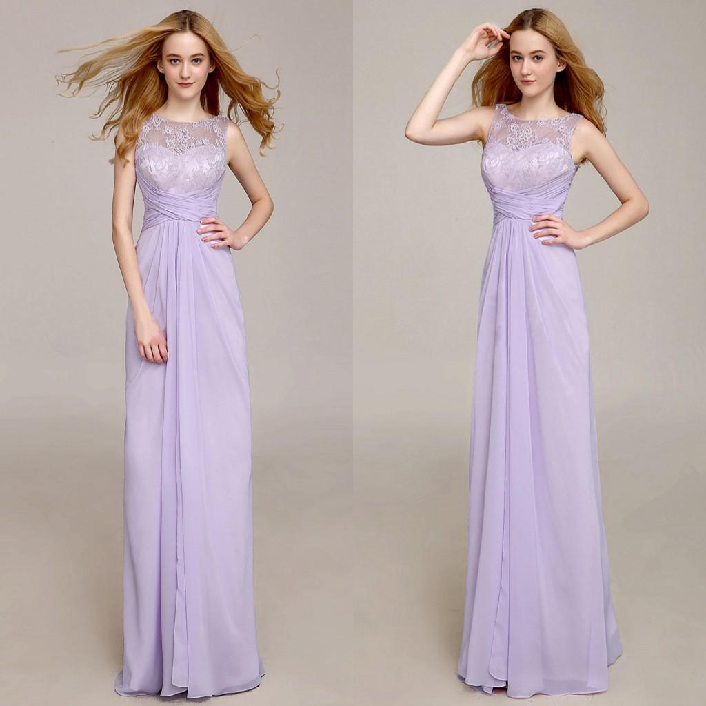 Long lavender bridesmaid dresses good dresses lavender long bridesmaid dresses jewel lace top a line fashion chiffon fabric floor length formal dress ombrellifo Image collections