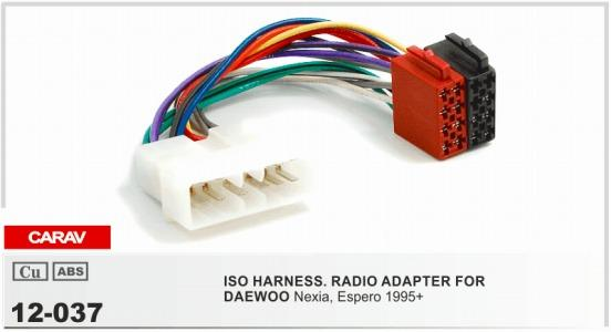 carav 12 037 iso radio adapter for daewoo nexia, espero 1995+ wiring harness  connector lead loom cable plug interior accessories for cars interior