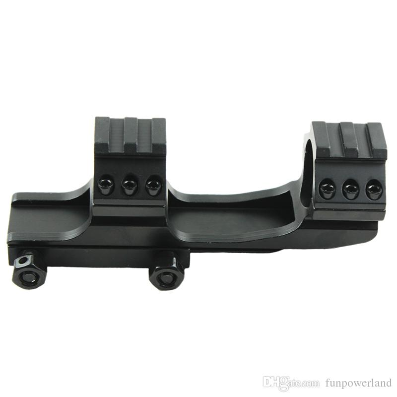 Funpowerland Hot Sell High Quality black color 25.4mm Dual Ring Cantilever Heavy Duty Scope Mount Picatinny/Weaver Rail