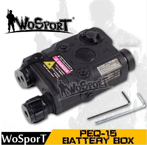 WOSPORT Tactical PEQ-15 LA-5 Battery Case Box Airsoft Hunting Equipment for Tactical Gear Use for Fast Helmet
