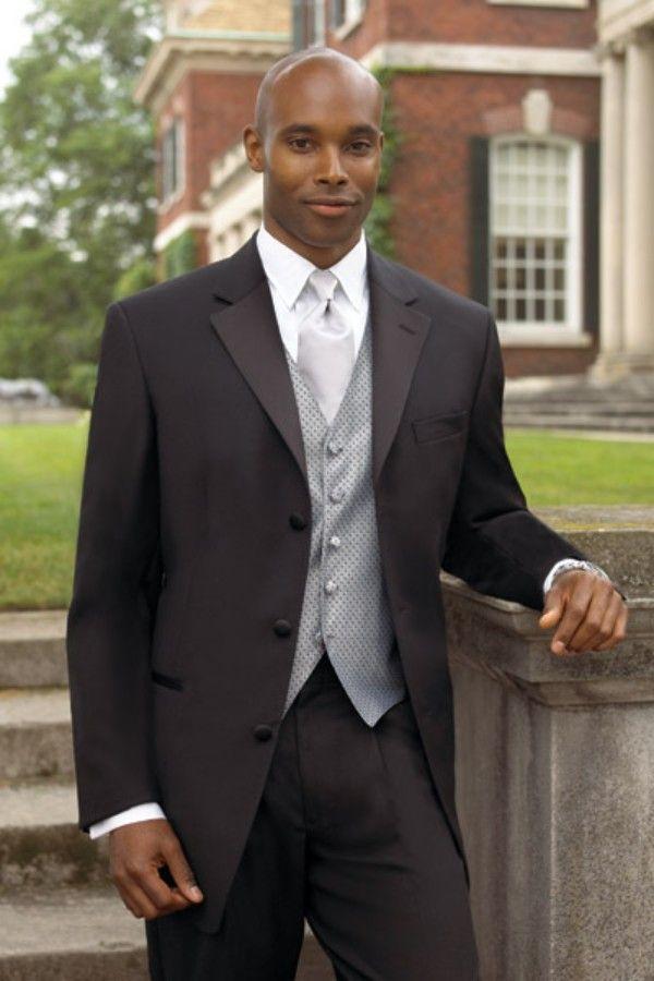 2015 Vintage Black Notched Lapel Wedding Suits For Men Tuxedos Men ...