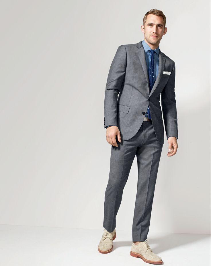 Good Design Charcoal Gray Formal Mens Suit For Wedding Slim Fit ...