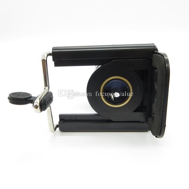 Lente telescópica universal 8X Zoom para teléfono celular con soporte Lente de cámara focal larga para iPhone Samsung HTC Sony Blackberry black en caja