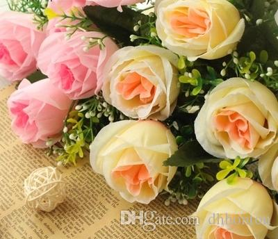 silk rose flower korea style rose wedding and home decomration fashiong party decorative flower
