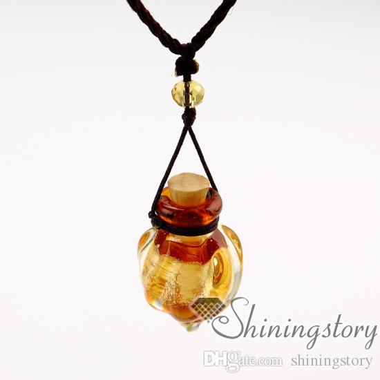 ätherisches Öl Halskette Diffusoren Lampwork Glas Parfüm Anhänger Diffusor Aromatherapie Halsketten