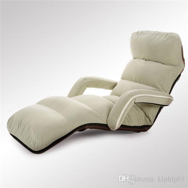 Comfortable Floor Folding Sofa Lounge Chair Armchair Living Room Furniture Modern Upholstered Adjustable Daybed Sleeper Sofa Bed Recliner