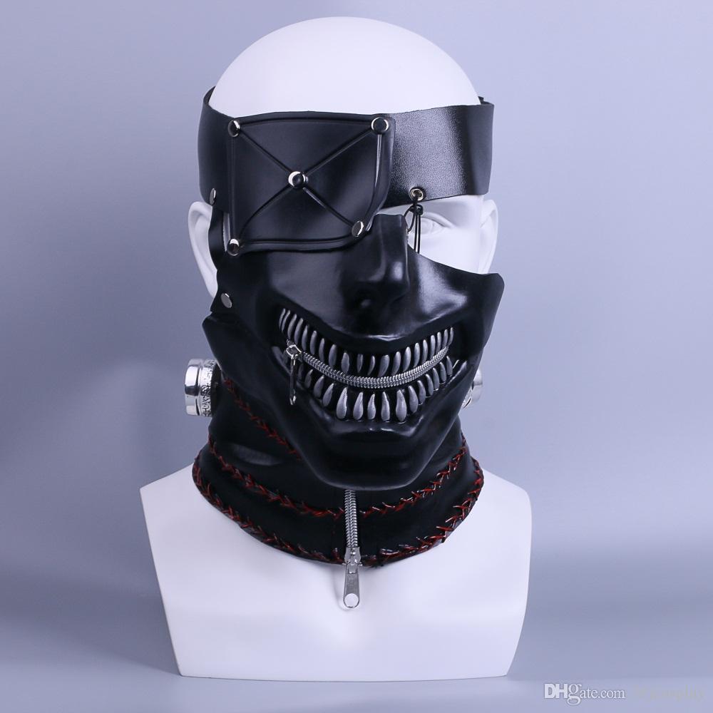 Compre 2017 Película Tokyo Ghoul Mask Ken Kaneki Látex Adulto Cosplay Props  Fiesta De Halloween Casco Apoyos Nuevo A  35.18 Del Bfjcosplay  85472dcad4fb