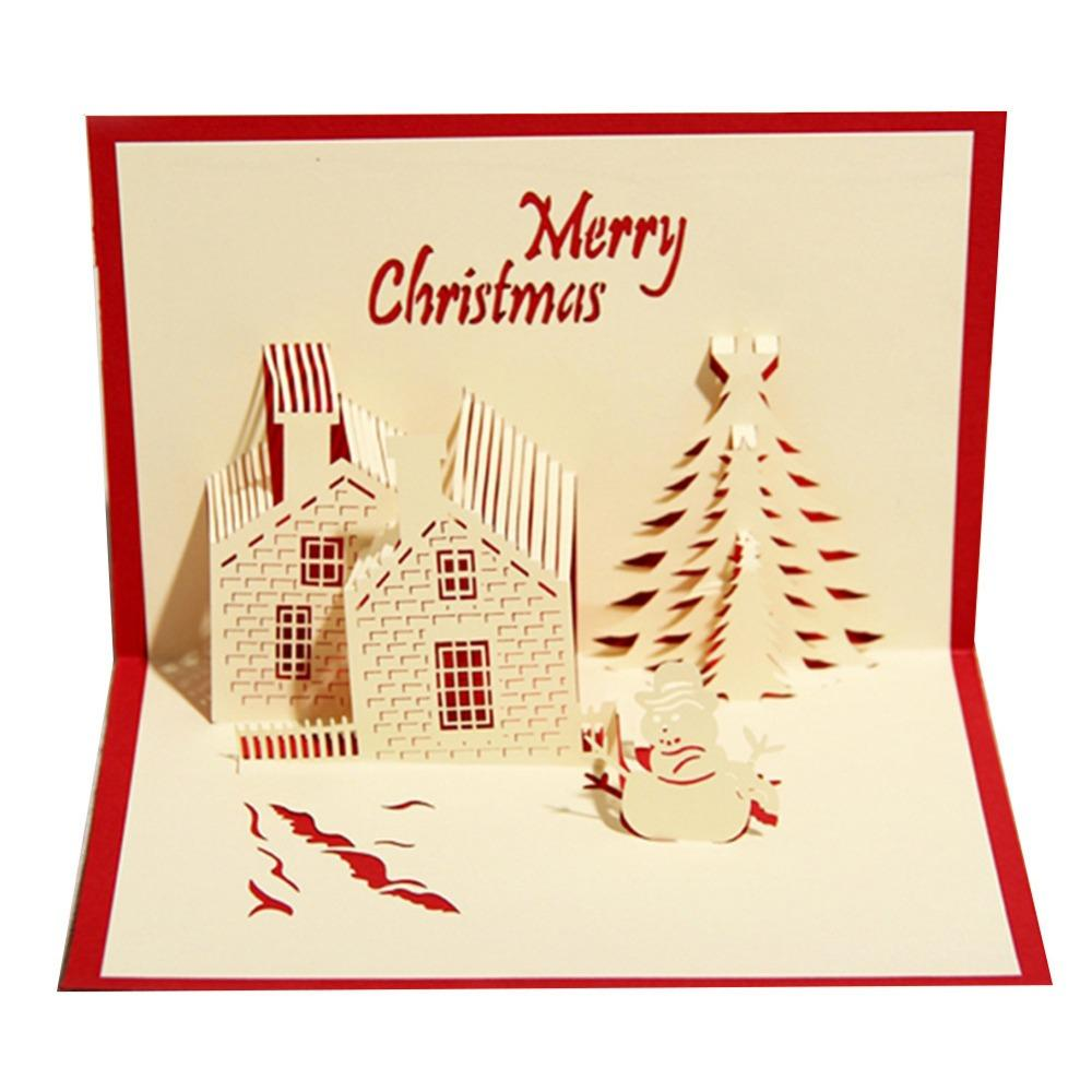 Christmas Castle Holiday Design Christmas Cards Creative Kirigami ...