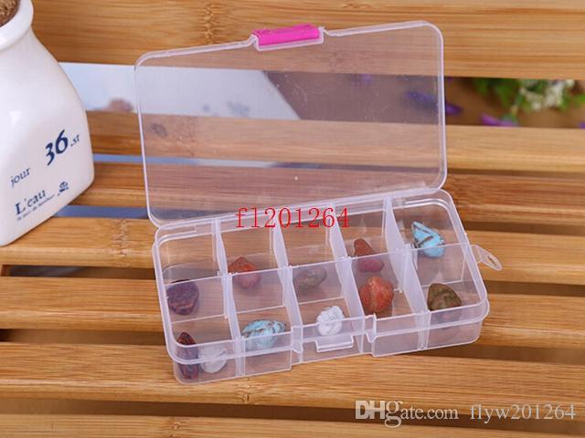 200ピー/ロットフェデックスDHL送料無料卸売クリアジュエリービーズコンテナ収納プラスチックボックス10コンパートメント