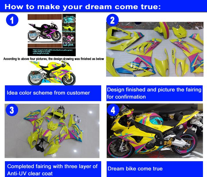7 gifts fairing kit for SUZUKI GSXR600 GSXR750 2004 2005 K4 blue rizlia GSXR 600 750 fairings 04 05 fR59